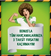BONUS KART'LILARA ÖZEL PEŞİN FİYATINA 3 TAKSİT NAKLİYAT FIRSATI